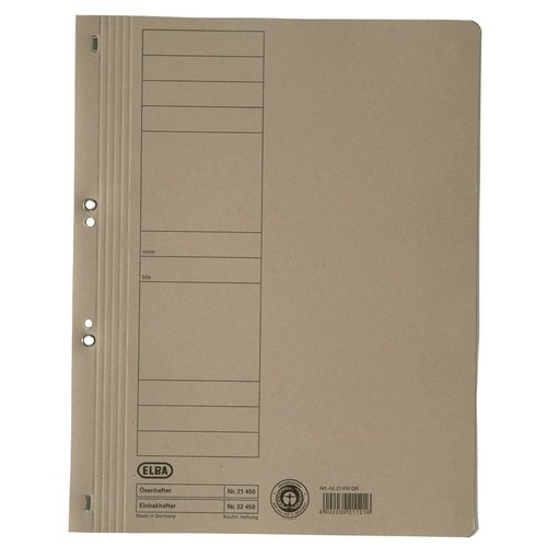 Ösenhefter 1/1 Vorderdeckel 240x305mm für 200Blatt chamois Karton Elba 100551870 Produktbild Additional View 1 L