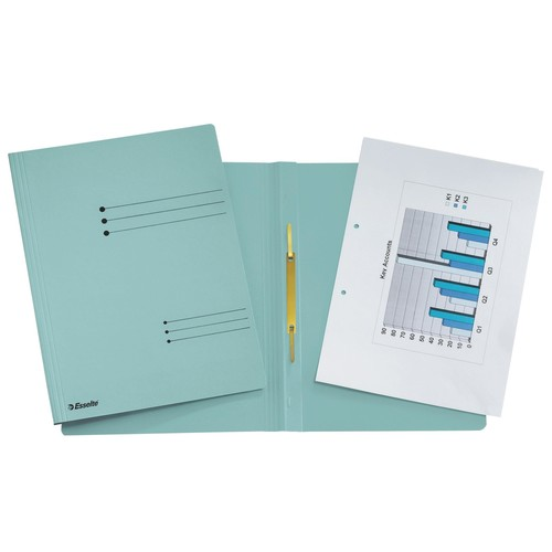 Schnellhefter A4 blau Karton Esselte 621057 Produktbild Front View L