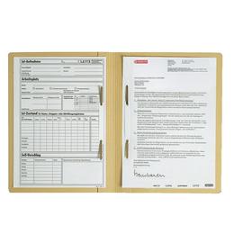 Zweifalzhefter mit zwei Heftmechaniken A4 chamois Karton Leitz 3030-00-11 Produktbild