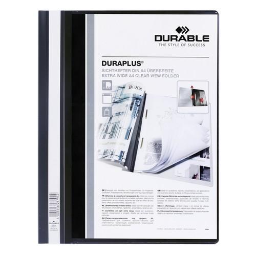Präsentationshefter Duraplus A4 Überbreite schwarz Durable 2579-01 Produktbild Additional View 1 L
