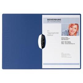 Bewerbungsmappe 2-teilig Swing mit Klemme A4 blau Karton Pagna 22007-02 Produktbild