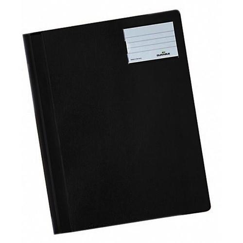 Schnellhefter opak A4 mit Beschriftungsfenster+Innentasche schwarz Durable 2500-01 Produktbild Front View L
