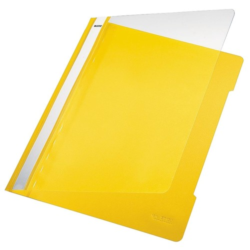 Schnellhefter Vorderdeckel transparent A4 gelb PVC Leitz 4191-00-15 Produktbild Front View L