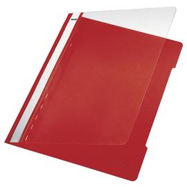Schnellhefter Vorderdeckel transparent A4 rot PVC Leitz 4191-00-25 Produktbild