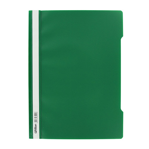 Schnellhefter Vorderdeckel transparent A4 grün Plastik - neutral - 840/02 Produktbild
