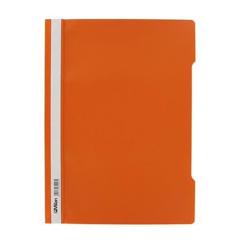 Schnellhefter Vorderdeckel transparent A4 orange Plastik - neutral - 840/06 Produktbild