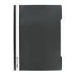 Schnellhefter Vorderdeckel transparent A4 schwarz Plastik - neutral - 840/09 Produktbild