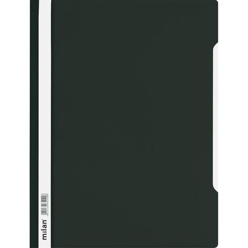 Schnellhefter Vorderdeckel transparent A4 schwarz Plastik - neutral - 840/09 Produktbild Additional View 1 L