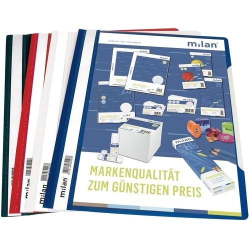 Schnellhefter Vorderdeckel transparent A4 schwarz Plastik - neutral - 840/09 Produktbild Additional View 2 L