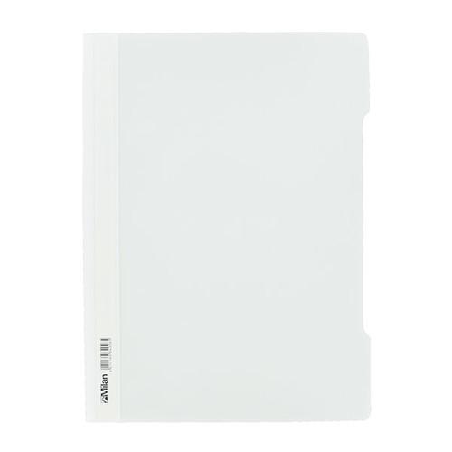 Schnellhefter Vorderdeckel transparent A4 weiß Plastik - neutral - 840/08 Produktbild