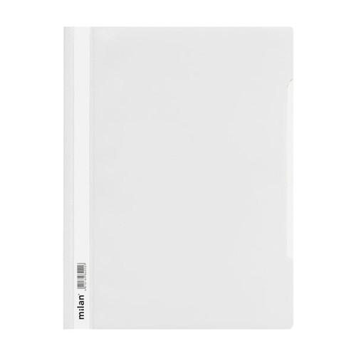 Schnellhefter Vorderdeckel transparent A4 weiß Plastik - neutral - 840/08 Produktbild Additional View 1 L