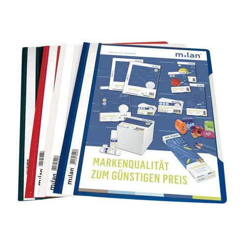 Schnellhefter Vorderdeckel transparent A4 weiß Plastik - neutral - 840/08 Produktbild Additional View 2 L