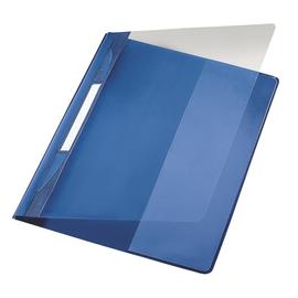 Schnellhefter Exquisit Vorderdeckel transparent A4 Längstasche im Rückdeckel blau PVC Leitz 4194-00-35 Produktbild