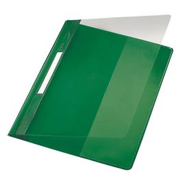 Schnellhefter Exquisit Vorderdeckel transparent A4 Längstasche im Rückdeckel grün PVC Leitz 4194-00-55 Produktbild