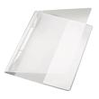 Schnellhefter Exquisit Vorderdeckel transparent A4 Längstasche im Rückdeckel weiß PVC Leitz 4194-00-01 Produktbild