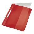 Schnellhefter Exquisit Vorderdeckel transparent A4 Längstasche im Rückdeckel rot PVC Leitz 4194-00-25 Produktbild
