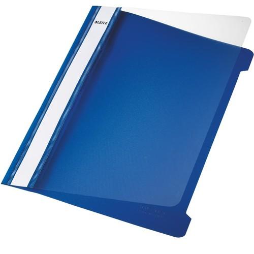Schnellhefter Vorderdeckel transparent A5 blau PVC Leitz 4197-00-35 Produktbild Front View L