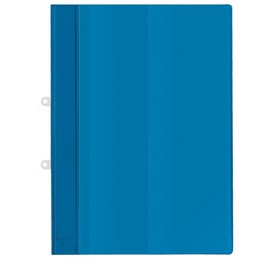 Schnellhefter mit Abheftvorrichtung und Innentasche A4 blau PVC Veloflex 4740050 Produktbild