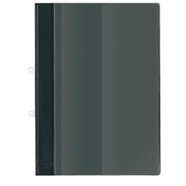 Schnellhefter mit Abheftvorrichtung und Innentasche A4 schwarz PVC Veloflex 4740080 Produktbild