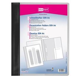 Schnellhefter Veloform Vorderdeckel transparent mit Innentasche A4 überbreit schwarz PVC Veloflex 4741080 Produktbild