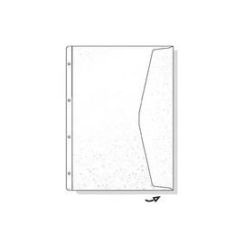 Dokumentenhüllen mit Klappe A4 überbreit 180µ transparent Rexel 226784 (BTL=5 STÜCK) Produktbild