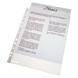 Prospekthüllen oben offen A4 52µ PP genarbt Milan/Esselte 815 (PACK=100 STÜCK) Produktbild