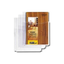 Prospekthüllen mit Faltentasche A4 180µ PVC leicht genarbt Rexel 22679490 (BTL=5 STÜCK) Produktbild