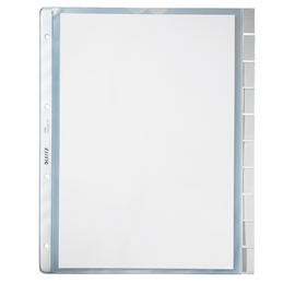 Register-Prospekthüllen mit Tabs A4 130µ farblos PP genarbt Leitz 4754-00-03 (PACK=10 STÜCK) Produktbild