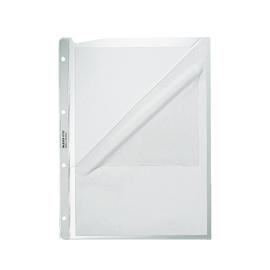 Prospekthülle oben + Lochseite offen A4 130µ PP genarbt Leitz 4780-00-03 Produktbild