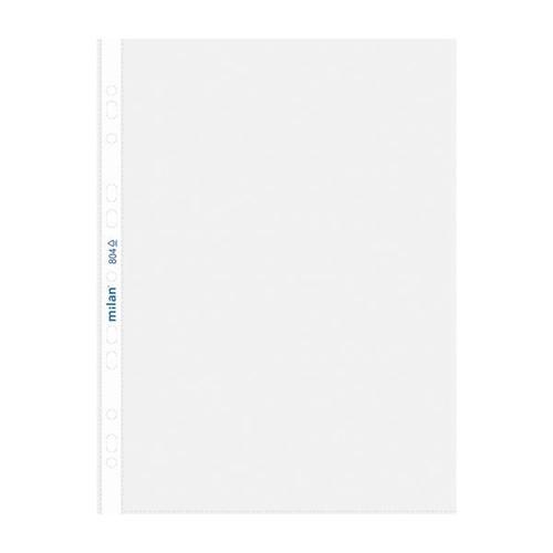 Prospekthüllen oben offen A4 55µ genarbt Milan 804 (PACK=100 STÜCK) Produktbild Front View L