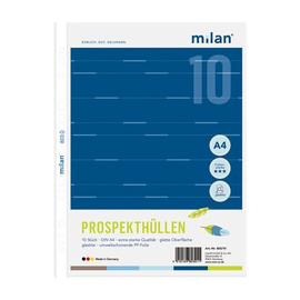Prospekthüllen oben offen A4 70µ glasklar Milan 803/10 (PACK=10 STÜCK) Produktbild