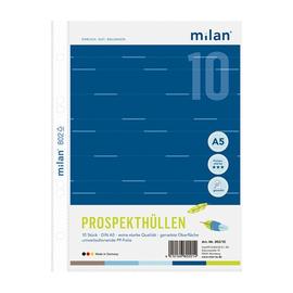 Prospekthüllen oben offen A5 80µ genarbt Milan 802/10 (PACK=10 STÜCK) Produktbild