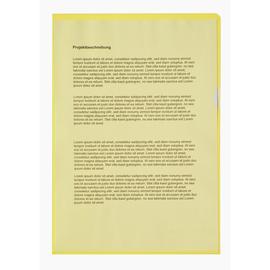 Sichthüllen oben + rechts offen A4 120µ gelb PP genarbt Soennecken 1512 (PACK=100 STÜCK) Produktbild
