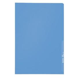 Sichthülle oben + rechts offen A4 130µ blau PP genarbt Leitz 4000-00-35 Produktbild
