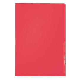 Sichthülle oben + rechts offen A4 130µ rot PP genarbt Leitz 4000-00-25 Produktbild