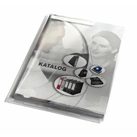 Sichthülle Maxi oben + rechts offen A4 mit Sichtfenster oben 200µ farblos PVC genarbt Leitz 4054-00-00 Produktbild