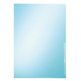 Sichthülle oben + rechts offen A4 150µ blau PVC Hartfolie Leitz 4100-00-35 Produktbild