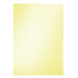 Sichthülle oben + rechts offen A4 150µ gelb PVC Hartfolie Leitz 4100-00-15 Produktbild