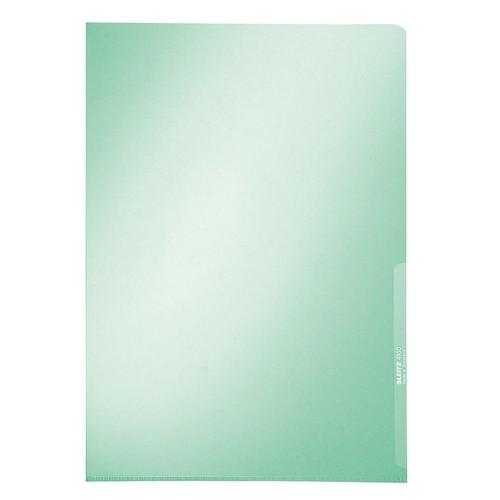 Sichthülle oben + rechts offen A4 150µ grün PVC Hartfolie Leitz 4100-00-55 Produktbild Front View L