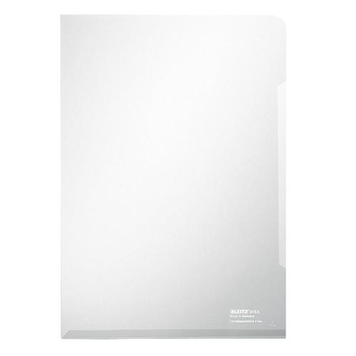 Sichthülle oben + rechts offen A4 150µ farblos PVC glasklar Leitz 4153-00-03 Produktbild