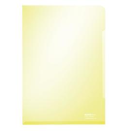 Sichthülle oben + rechts offen A4 150µ gelb PVC glasklar Leitz 4153-00-15 Produktbild