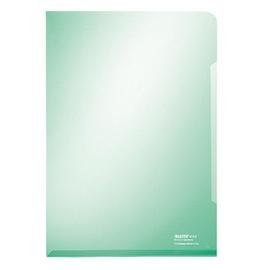 Sichthülle oben + rechts offen A4 150µ grün PVC glasklar Leitz 4153-00-55 Produktbild