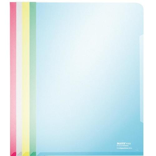 Sichthüllen oben + rechts offen A4 150µ sortiert PVC glasklar Leitz 4153-00-99 (PACK=100 STÜCK) Produktbild Front View L