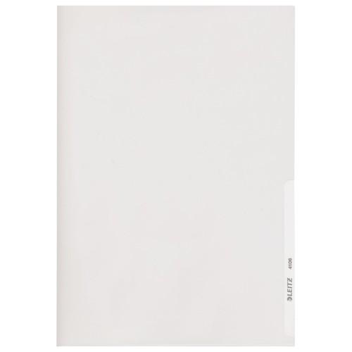 Sichthülle oben + rechts offen A4 150µ glasklar PVC Hartfolie Leitz 4106-00-02 Produktbild Front View L