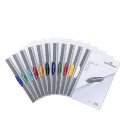 Klemmmappe Swingclip A4 mit farbiger Klemme bis 30Blatt schwarz PP Durable 2260-01 Produktbild