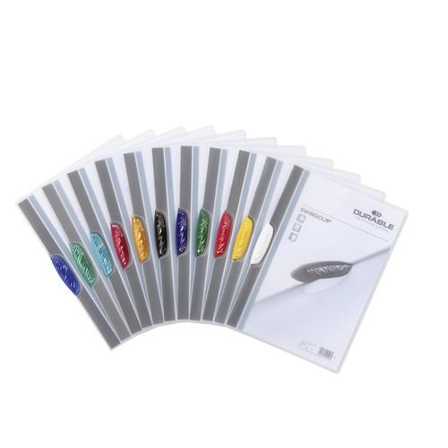 Klemmmappe Swingclip A4 mit farbiger Klemme bis 30Blatt dunkelblau PP Durable 2260-07 Produktbild