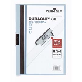 Klemmmappe Duraclip30 A4 bis 30Blatt blau Hartfolie Durable 2200-06 Produktbild