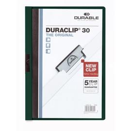 Klemmmappe Duraclip30 A4 bis 30Blatt petrol/dunkelgrün Hartfolie Durable 2200-32 Produktbild