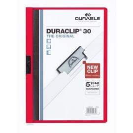 Klemmmappe Duraclip30 A4 bis 30Blatt rot Hartfolie Durable 2200-03 Produktbild