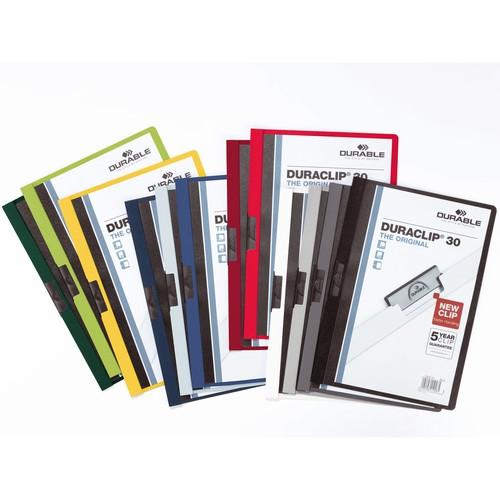 Klemmmappe Duraclip30 A4 bis 30Blatt schwarz Hartfolie Durable 2200-01 Produktbild Additional View 1 L